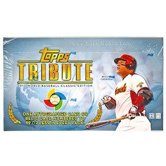 2013 Topps Tribute Baseball WBC Edition Hobby Box