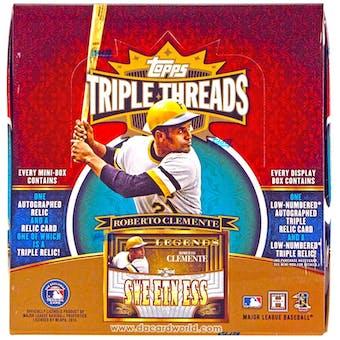 2013 Topps Triple Threads Baseball Hobby Box