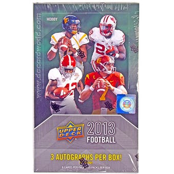 2013 Upper Deck Football Hobby Box