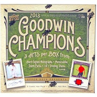 2013 Upper Deck Goodwin Champions Hobby Box