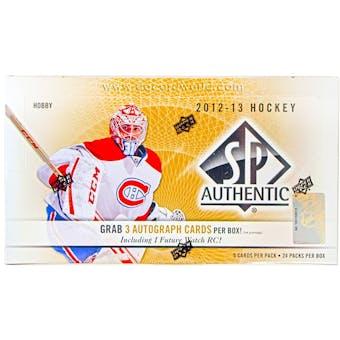 2012/13 Upper Deck SP Authentic Hockey Hobby Box