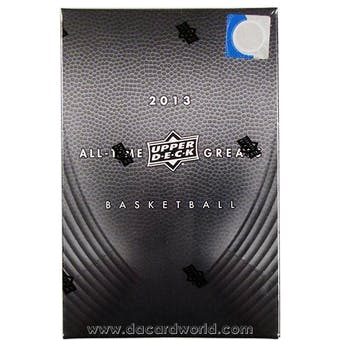2013 Upper Deck All Time Greats Basketball Hobby Box
