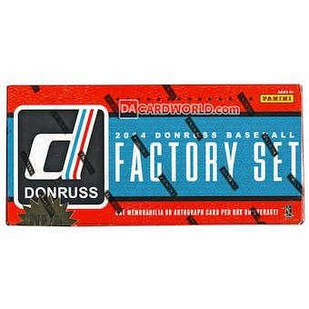 2014 Panini Donruss Factory Set Baseball Hobby (Box)