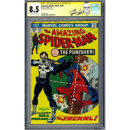 Amazing Spider-Man #129 CGC 8.5 Stan Lee Siganture Series (OW-W) *1409555001*