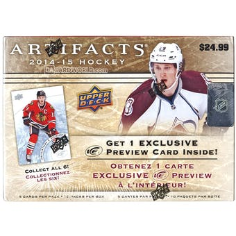2014/15 Upper Deck Artifacts Hockey 10-Pack Box