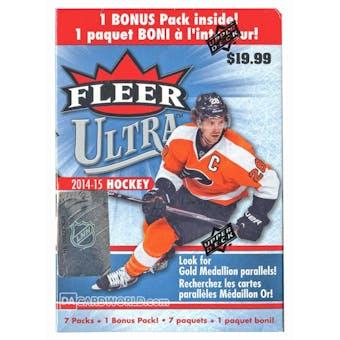 2014/15 Upper Deck Fleer Ultra Hockey 8-Pack Box