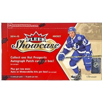 2014/15 Upper Deck Fleer Showcase Hockey Hobby Box