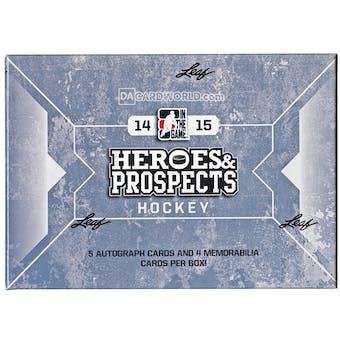 2014/15 Leaf ITG Heroes & Prospects Hockey Hobby Box