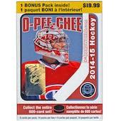 2014/15 Upper Deck O-Pee-Chee Hockey 14-Pack Box