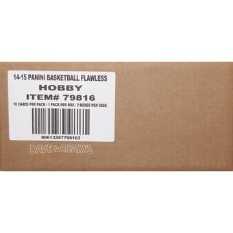 2014/15 Panini Flawless Basketball Hobby 2-Box Case
