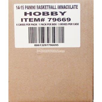 2014/15 Panini Immaculate Basketball Hobby 5-Box Case