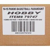 2014/15 Panini Paramount Basketball Hobby 5-Box Case