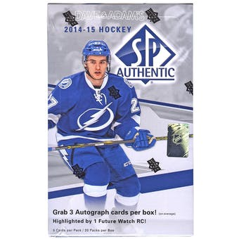 2014/15 Upper Deck SP Authentic Hockey Hobby Box