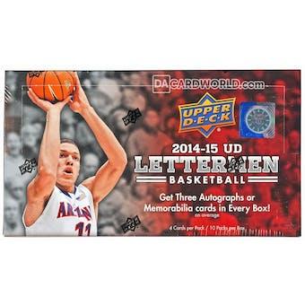 2014/15 Upper Deck Lettermen Basketball Hobby Box