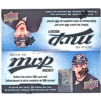 2014/15 Upper Deck MVP Hockey Retail 36 Pack Box