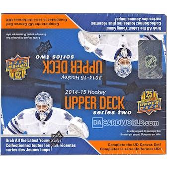 2014/15 Upper Deck Series 2 Hockey 24-Pack Box