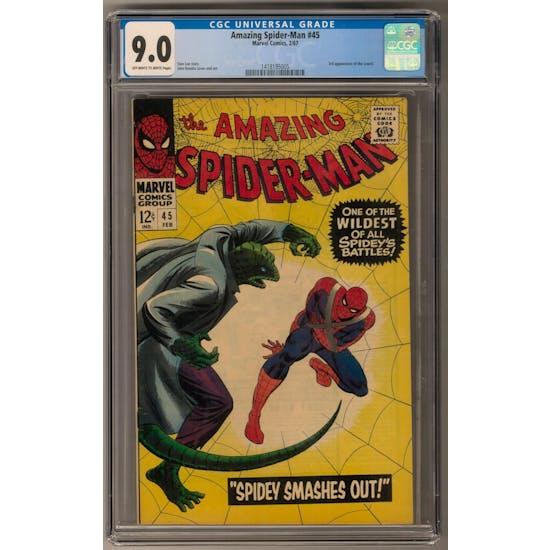 Amazing Spider-Man #45 CGC 9.0 (OW-W) *1418195005*