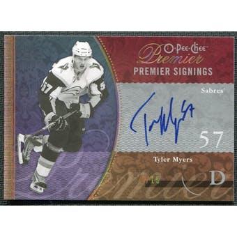 2009/10 Upper Deck OPC Premier Signings Gold #PSTM Tyler Myers Autograph 10/15
