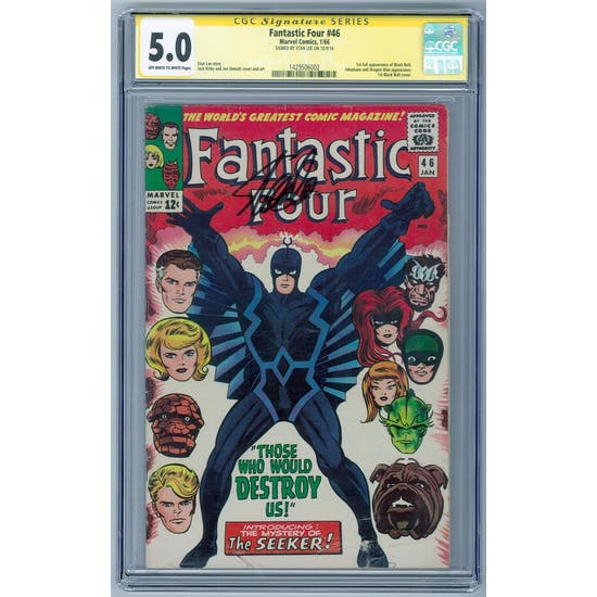 Fantastic Four #46 CGC 5.0 (OW-W) Signature Series Stan Lee *1429506002*