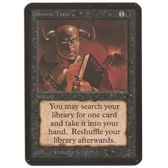 Magic the Gathering Alpha Single Demonic Tutor - NEAR MINT (NM)