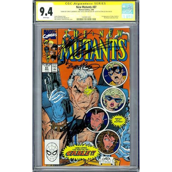 New Mutants #87 CGC 9.4 Lee Liefeld Claremont McLeod Signature Series (W) *1433951003*
