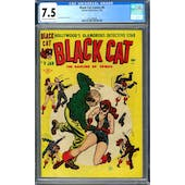 Black Cat Comics #9 CGC 7.5 (OW-W) *1447688008*