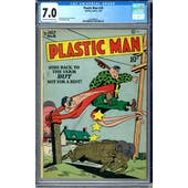 Plastic Man #18 CGC 7.0 (C-OW) *1447688021*