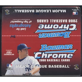 2008 Bowman Chrome Baseball 24 Pack Retail Box