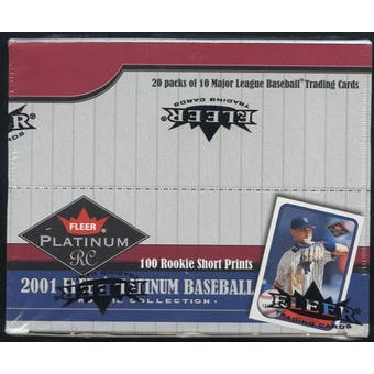 2001 Fleer Platinum Rookie Collection Baseball 20 Pack Retail Box