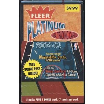 2002/03 Fleer Platinum Basketball Blaster Box
