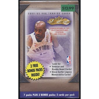 2002/03 Fleer Showcase Basketball Blaster Box