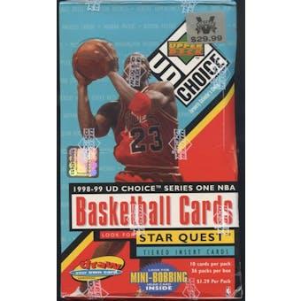 1998/99 Upper Deck Choice Series 1 Basketball Prepriced Box