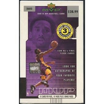 2000/01 Upper Deck MVP Basketball Blaster Box