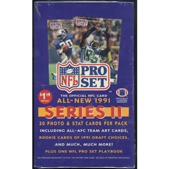 1991 Pro Set Series 2 Football Prepriced Box