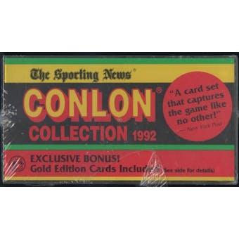 1992 Conlon Collection Baseball Factory Set