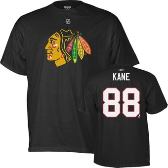 Patrick Kane Chicago Blackhawks Black Reebok T-Shirt (Adult XL)