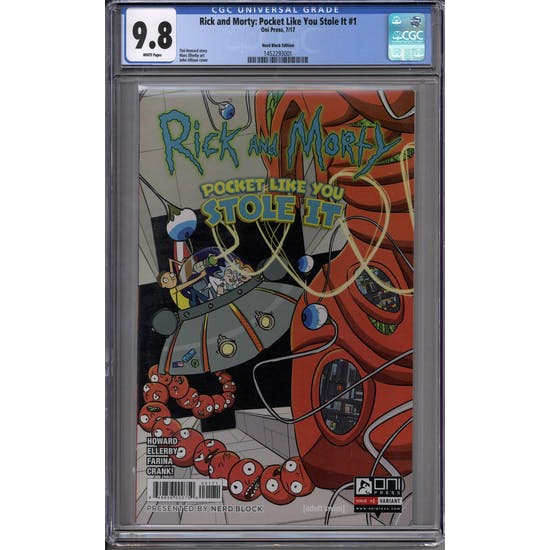 Rick and Morty: Pocket Like You Stole It #1 Nerd Block Variant CGC 9.8 (W) *1452293001*