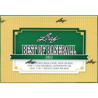 2012 Leaf Best Of Baseball Hobby Box