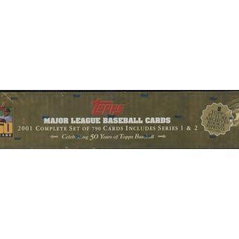 2001 Topps Baseball Retail Factory Set (Box) (Gold)