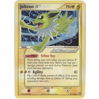 Pokemon Power Keepers Single Jolteon Gold Shining Star 101/108 - MODERATE PLAY