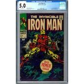 Iron Man #1 CGC 5.0 (OW) *1462811003*