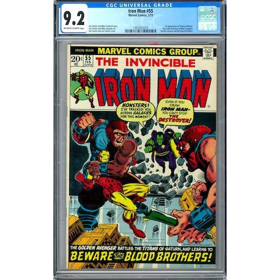 Iron Man #55 CGC 9.2 (OW-W) *1462852014*