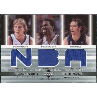 2002/03 Upper Deck Honor Roll Triple Warm-ups #DNMFSN Dirk Nowitzki Michael Finley Steve Nash