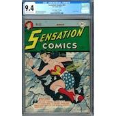 Sensation Comics #63 CGC 9.4 (OW-W) Davis Crippen Pedigree *1465464005*