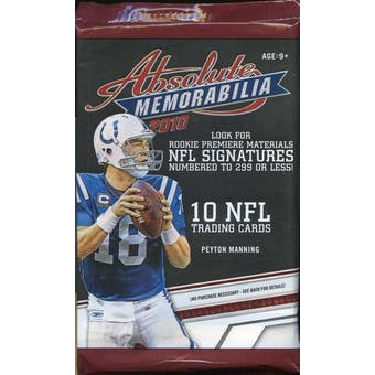 2010 Panini Absolute Football Retail Pack (Lot of 24)