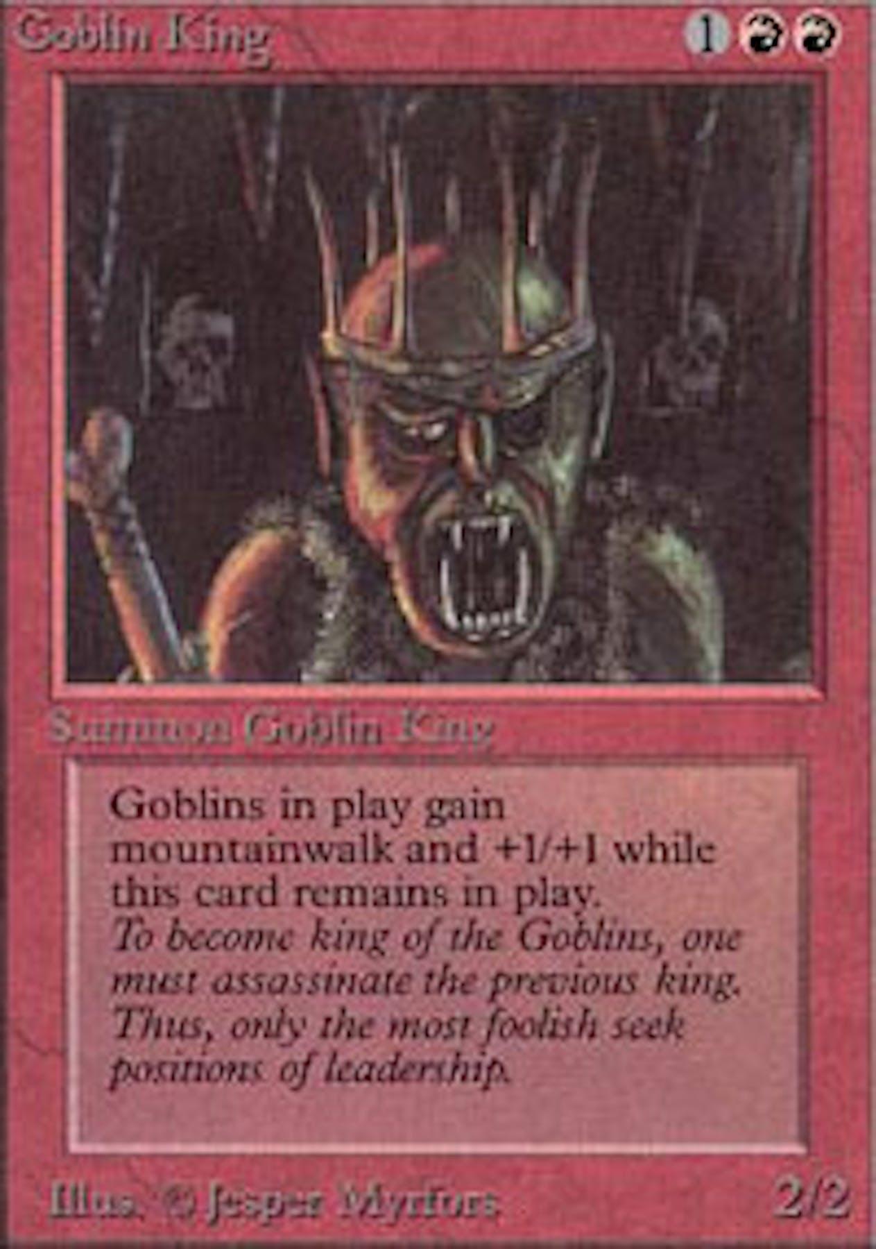 magic the gathering alpha single goblin king  near mint