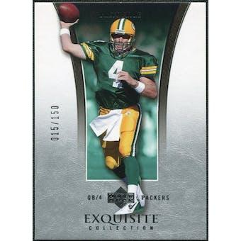2005 Upper Deck Exquisite Collection #15 Brett Favre /150