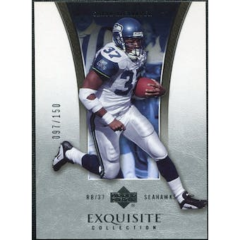 2005 Upper Deck Exquisite Collection #37 Shaun Alexander /150