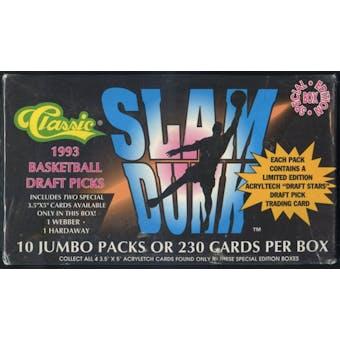 1993 Classic Slam Dunk Draft Picks Basketball Jumbo Box