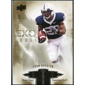 2010 Upper Deck Exquisite Collection Draft Picks #ERER Evan Royster /99